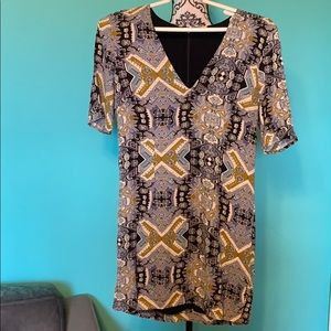 Free People Dress Light Stretch Lined Funky XS